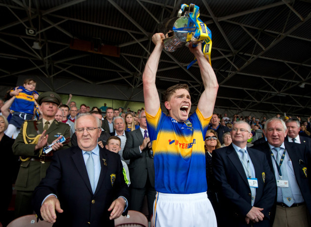 Brendan Maher lifts the trophy