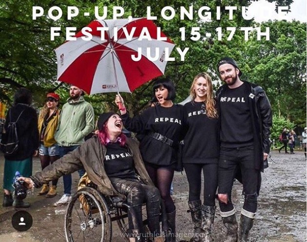 *announcement* @repealproject POP-UP @longitudefest July 15-17th. Come find us as the @freesafelegal Abortion Rights Campaign Stand, come on by for a chat, photo or to sign our petition. We are delighted to be collaborating with Rachel Prendergast Spollen from ARC on this, she has made this happen. Photo credit to the amazing @ruthlessimagery , who we are delighted to have working with us on our project. Shout out to all the supporters repping down at @castlepalooza . Also if you have friends going and you want a jumper (this is slightly gas) but tell them to get you one rather than buying online. Pop-up sales are more cost and time effective for our project. Thanks so much for the support thus far, all helping towards fundraising for our partner organisation @freesafelegal and giving this cause visibility , make it seen this problem that needs to be heard. We also look forward to our working media partnership with @herdotie