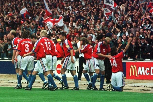 Euro 96 final Berger celeb