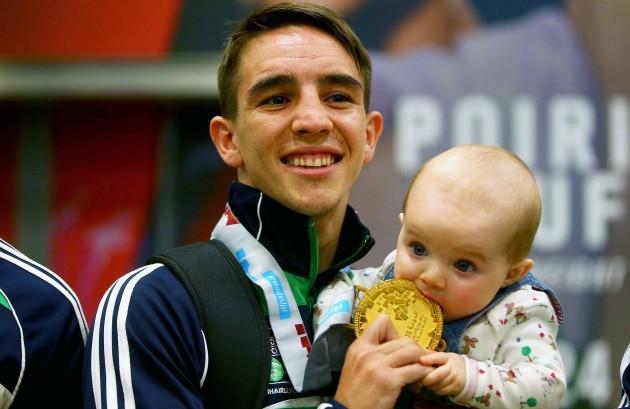 Michael Conlan with his daughter Luisne