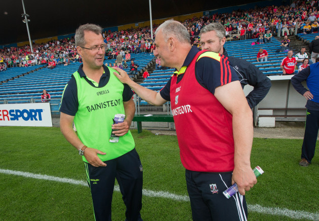 Peadar Healy and John Brudair after the game