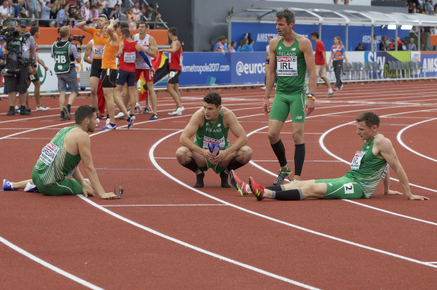 Ireland's relay runners dejected after failing to secure automatic qualification for the race at the Rio Games