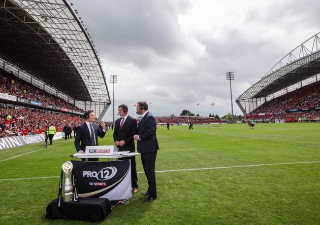Sky Sports pitch side