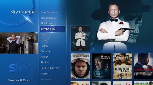 Sky UHD movies