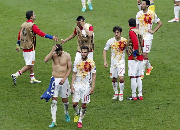 Soccer Euro 2016 Italy Spain