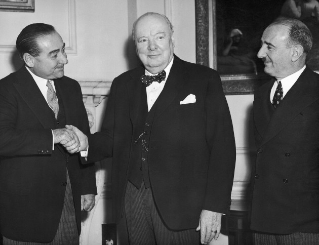 Mr. Adnan Menderes with Winston Churchill