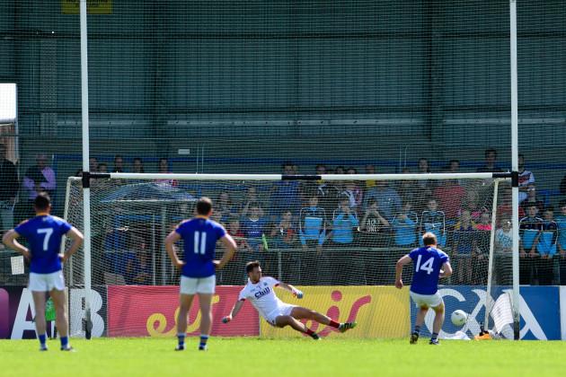 Brian Kavanagh scores a penalty