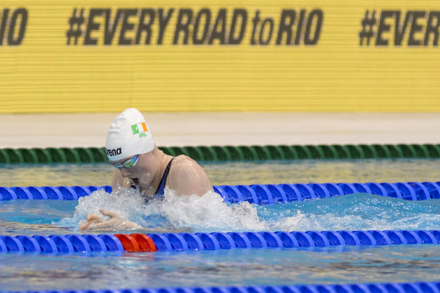 Fiona Doyle on her way to finishing fourth
