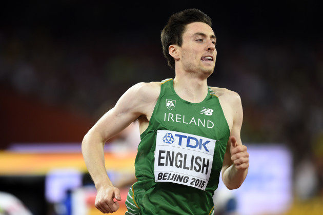 Mark English on his way to finishing fifth