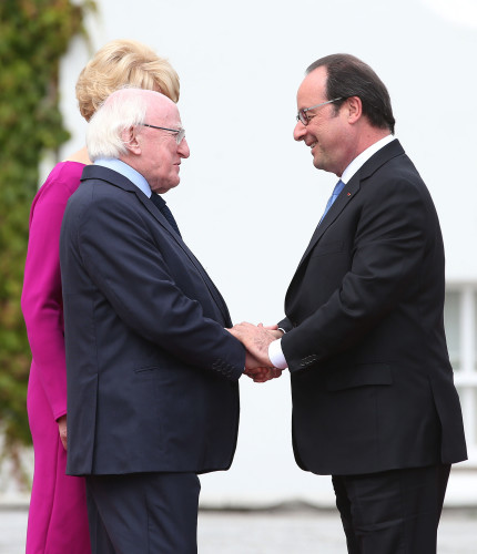 French president visit to Ireland