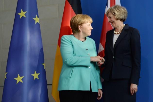 May meets Merkel