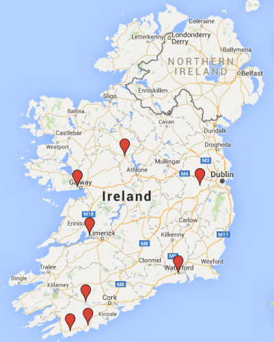 Map Of Ireland Cities And Towns.Eight Towns And Cities Chosen For 100m Social Housing Plan Of 450 Homes