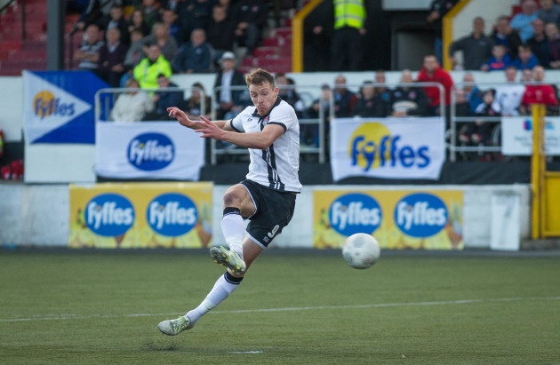 David McMillan scores the first goal