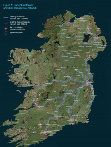 An all-Ireland motorway may be on the way - but it'll cost