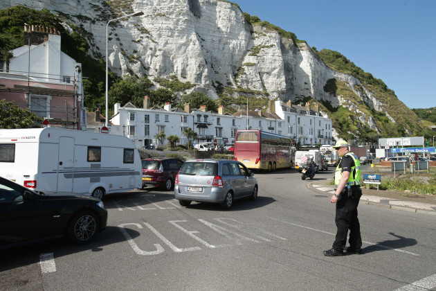Cross-Channel ferry French security checks