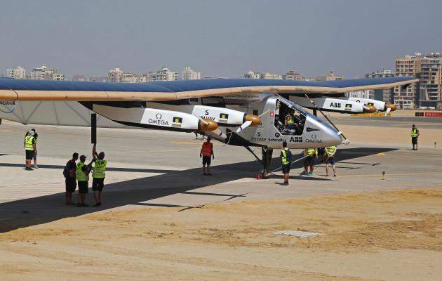 Mideast Egypt Solar Plane