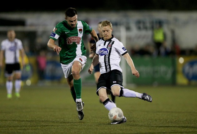 Eoghan O'Connell with Daryl Horgan