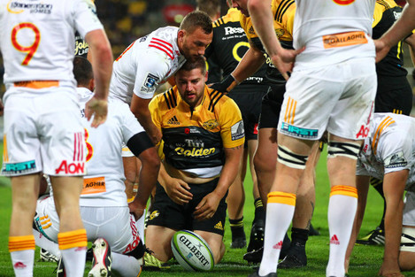 Dane Coles after scoring a try