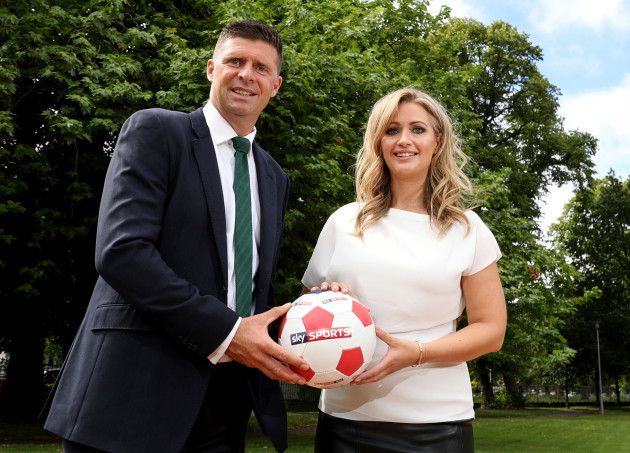 Niall Quinn and Hayley McQueen