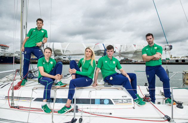 Matt McGovern, Annalise Murphy, Saskia Tidey, Finn Lynch and Ryan Seaton