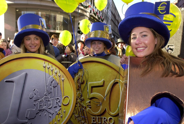 The Euro is introduced in to Ireland