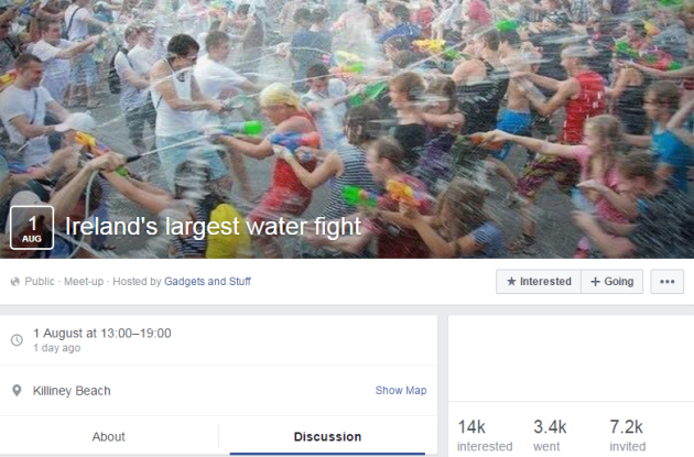 largest water fight