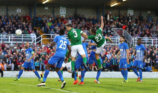 Alan Bennett scores a goal