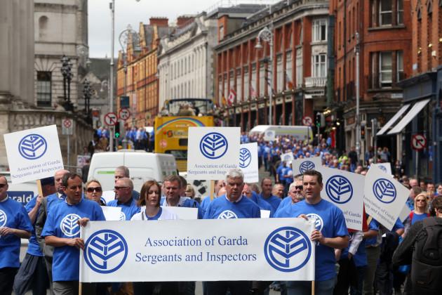 17/5/2016. Garda Protests