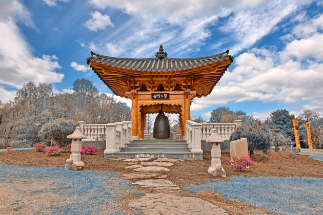 Korean Bell Garden - Winter Blue HDR