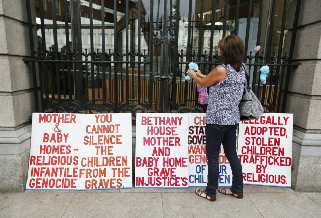 25/09/2014. Mother and Baby Homes - Protest. Pictu