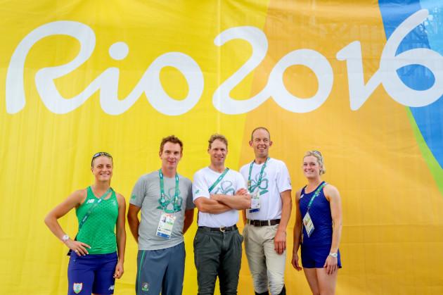 Members of the Irish Eventing Team
