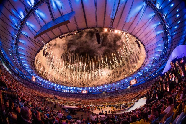 A view of the Olympic Games Opening Ceremony