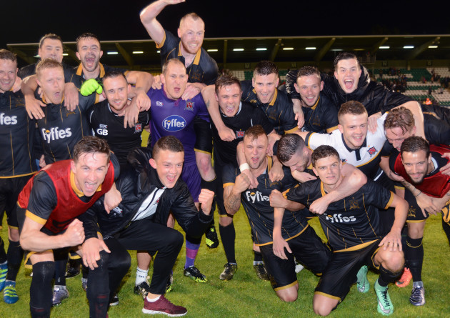 Dundalk celebrate after the game