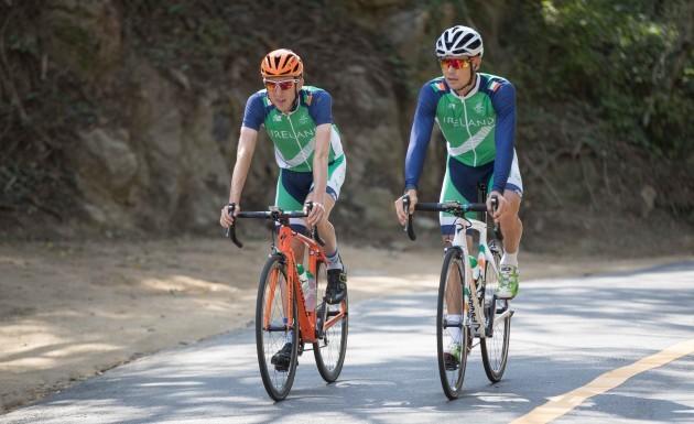 Dan Martin and Nicholas Roche