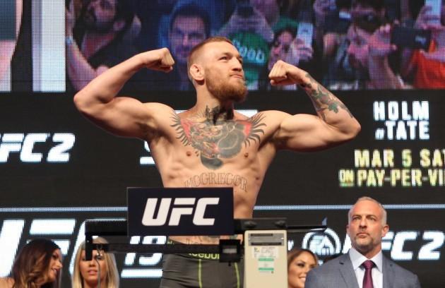 Conor McGregor weights-in