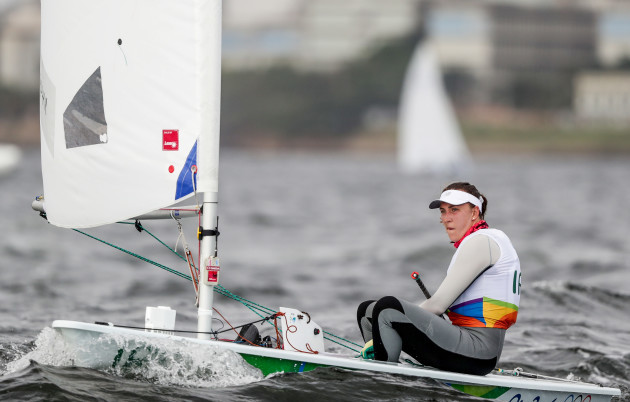 Annalise Murphy at the end of race 2
