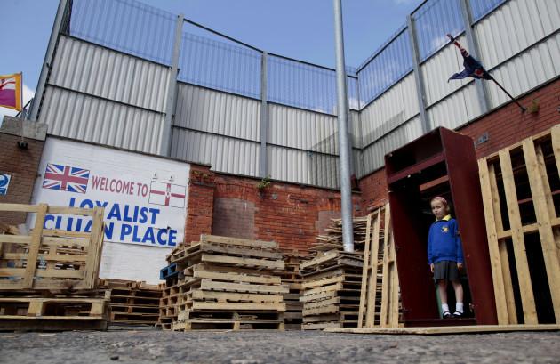 Britain Northern Ireland G8 Belfast Walls