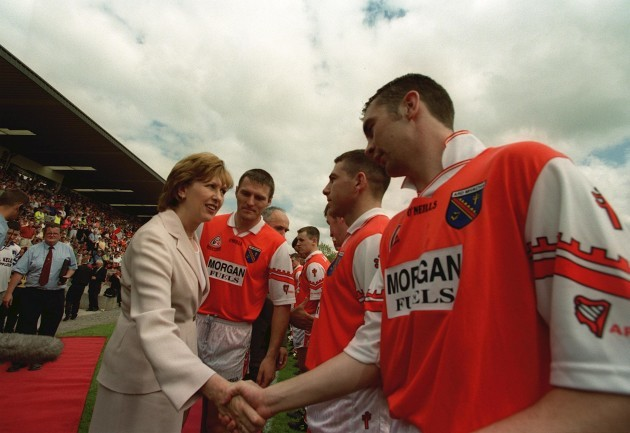 Mary McAleese meets Armagh's Oisin McConville 2/8/1999
