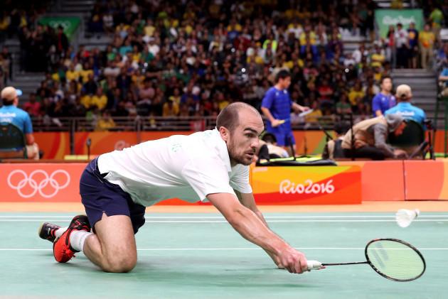 Scott Evans in action