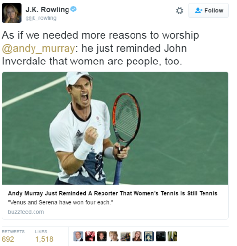 Andy Murray Shot Down A Bbc Reporter Who Seemed To Forget Women Play Tennis Candidate for treasurer of hinchtown. the daily edge