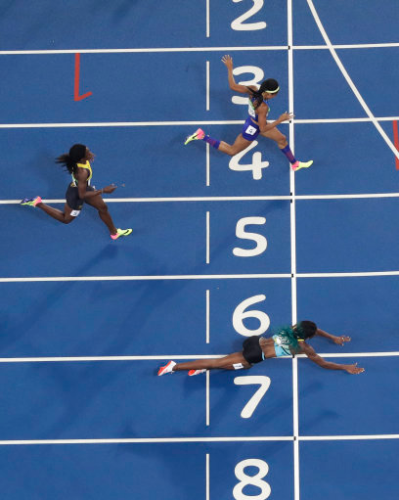 This Olympian became a meme when she loafed herself across the