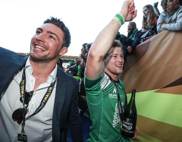 Dave McSharry and Kieran Marmion celebrates