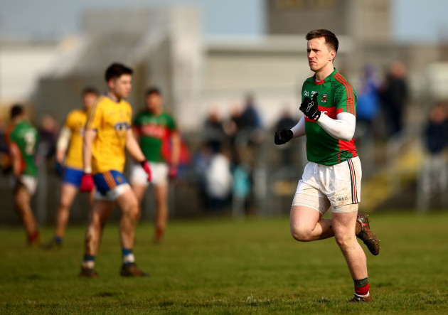 Cillian O'Connor takes to the field