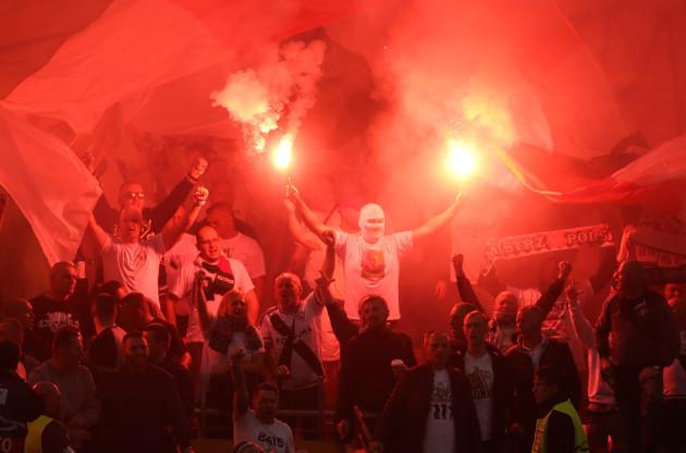 Dundalk v Legia Warsaw - UEFA Champions League Qualifying - Play-Off First Leg - Aviva Stadium