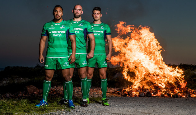 Bundee Aki, John Muldoon and Tiernan O'Halloran