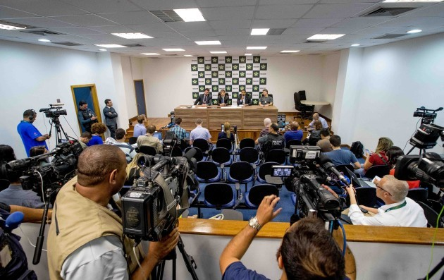 Brazilian police hold a press conference today