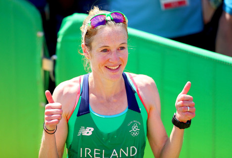 Fionnuala McCormack after finishing in 20th