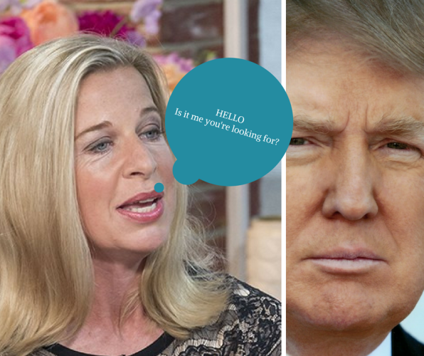 Katie hopkins & Donlad Trump