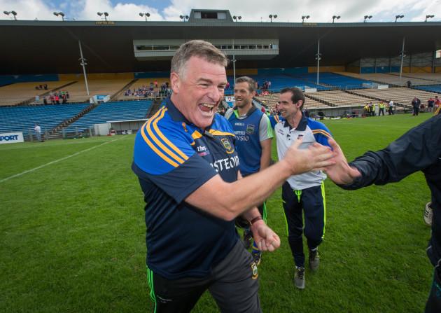 Liam Kearns celebrates