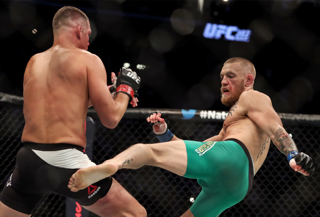 Conor McGregor and Nate Diaz